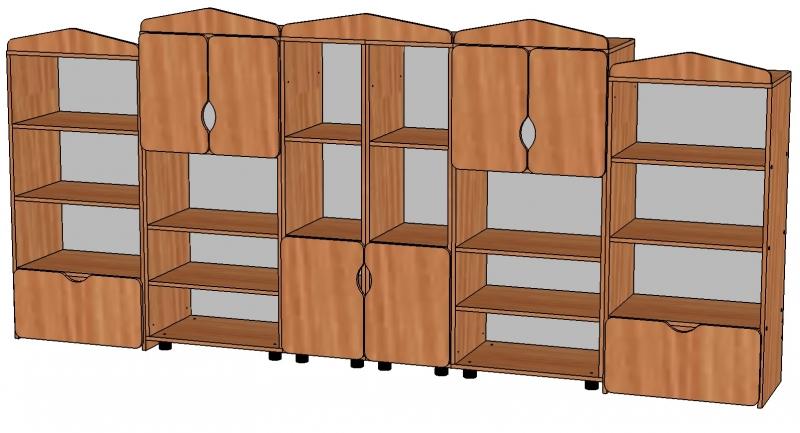 Стенки и шкафы детские мебель для детсада.